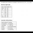 Sebra Size chart